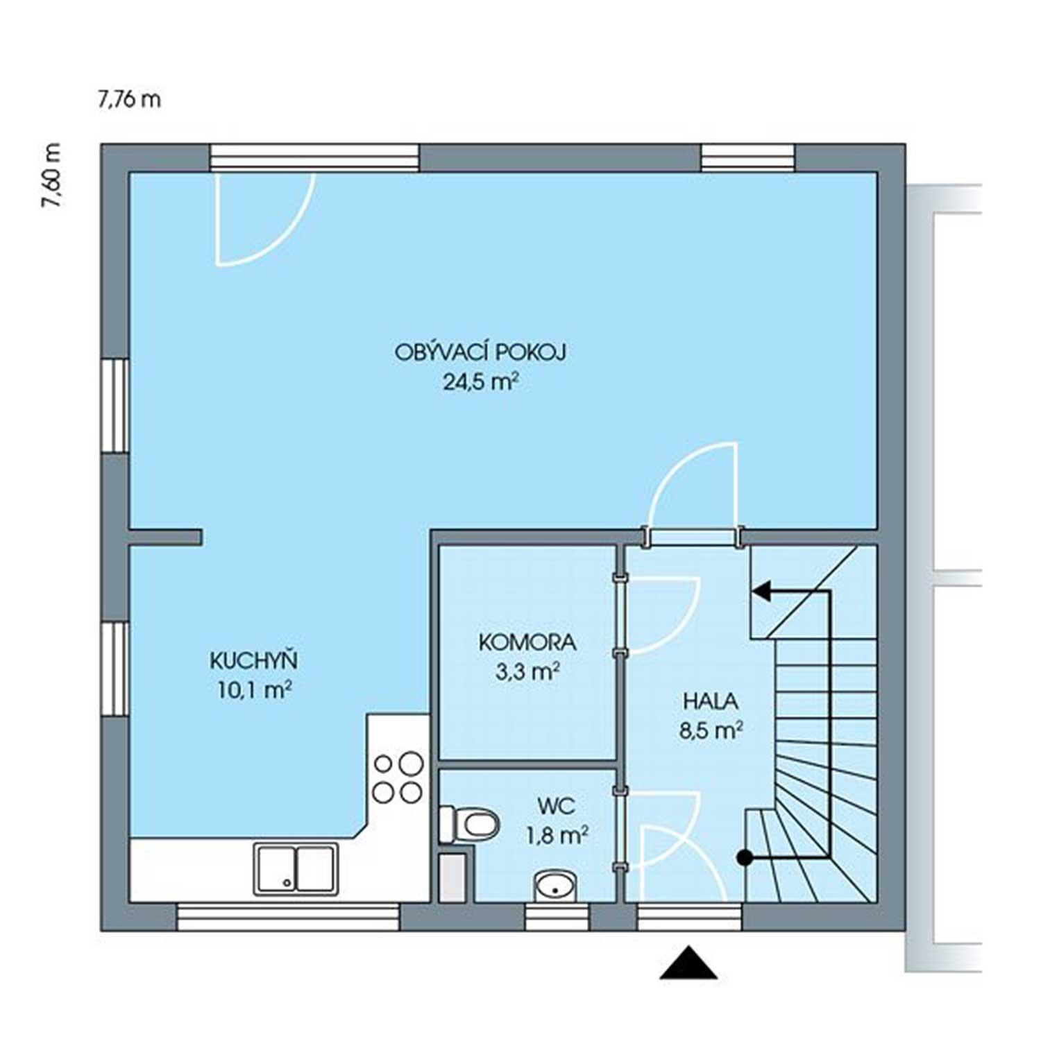 Obrázek podlaží domu